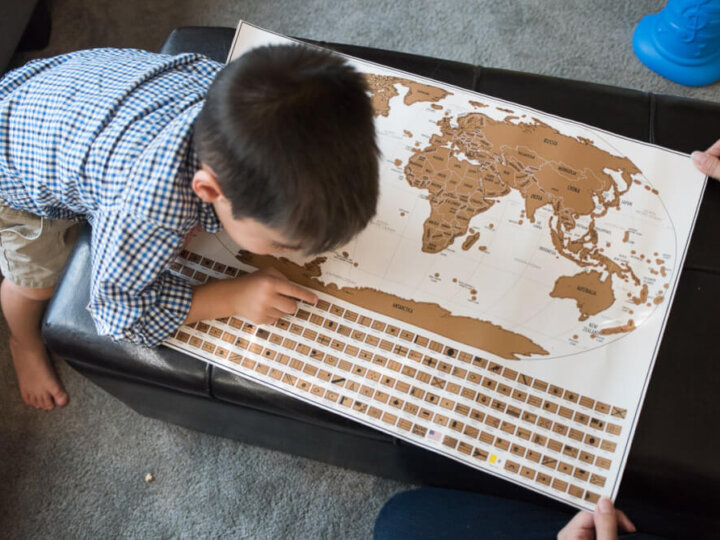 Scratch Off Your Favorite Trips with a Travel Tracker Map