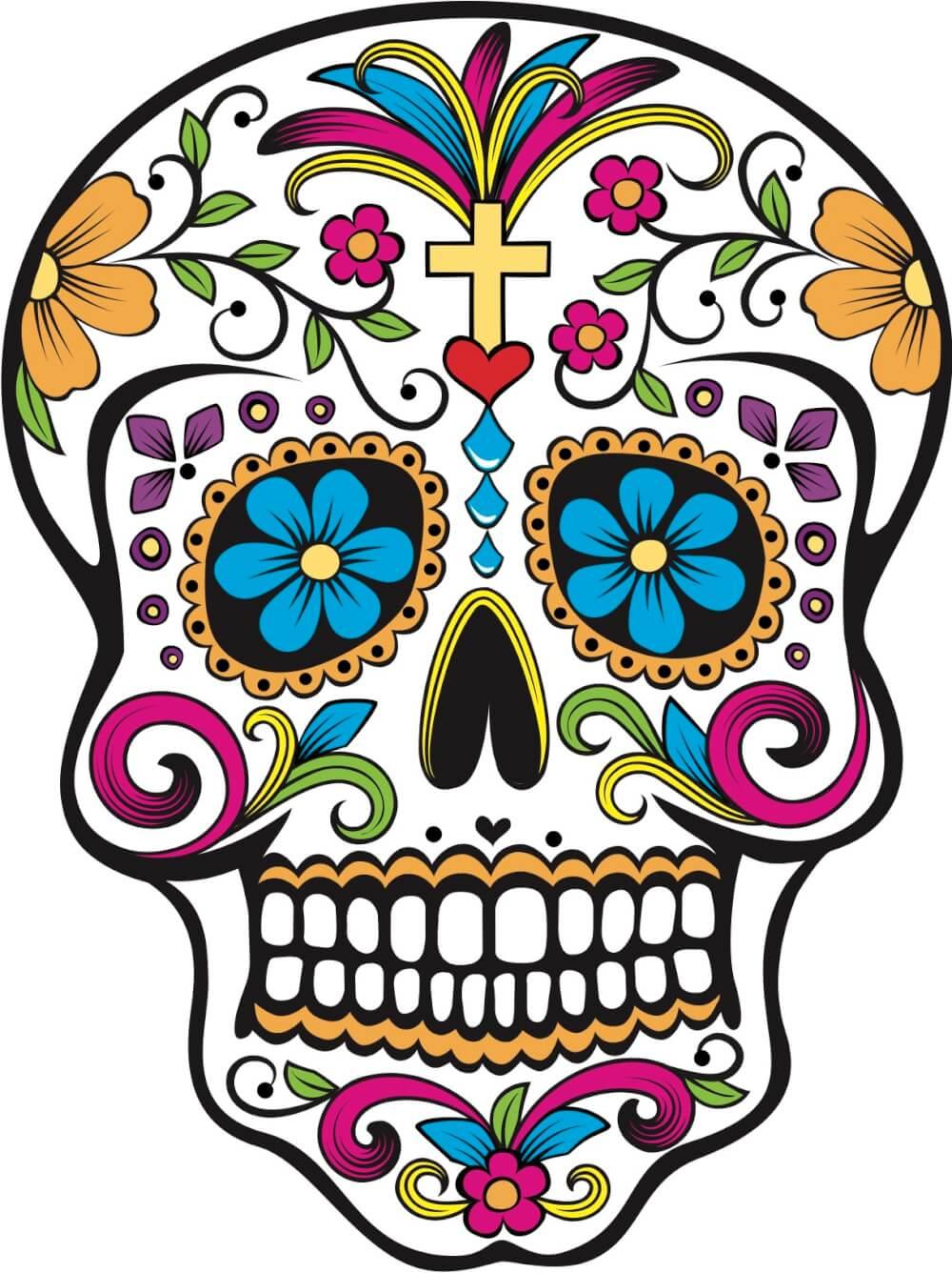 dia de los muertos sugar skull diy footprint painting activity for