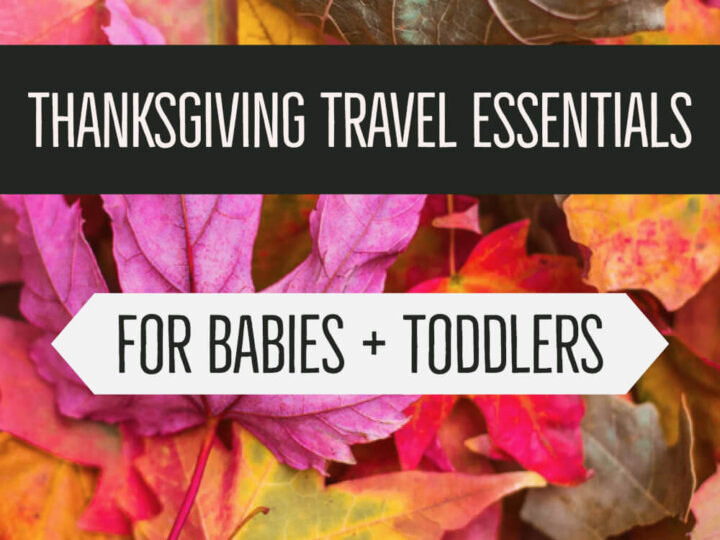 Thanksgiving Travel Essentials for Babies + Toddlers