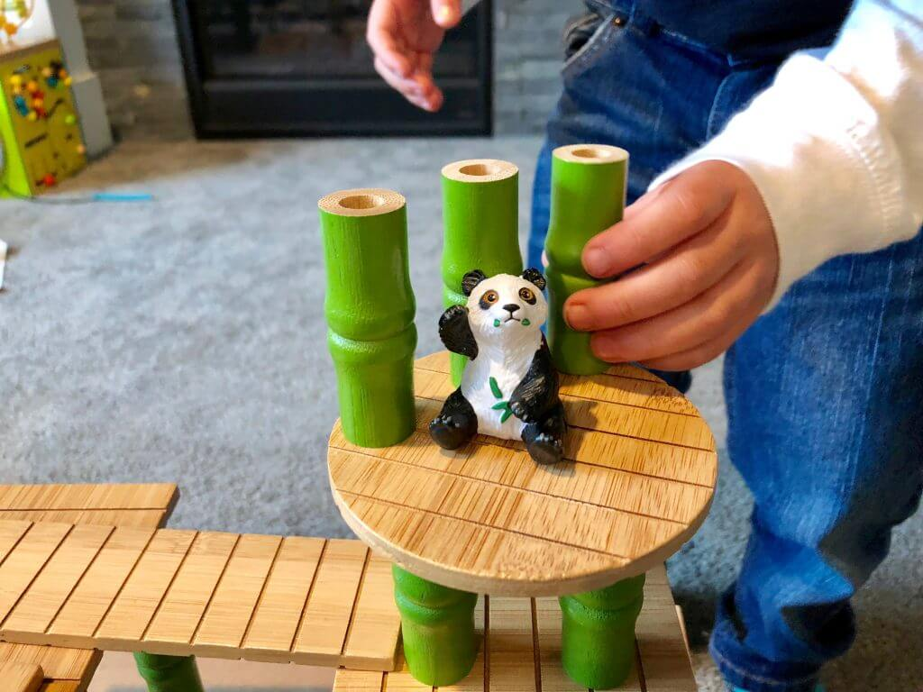 Bamboo toys like this are durable and can last much longer than plastic toys.
