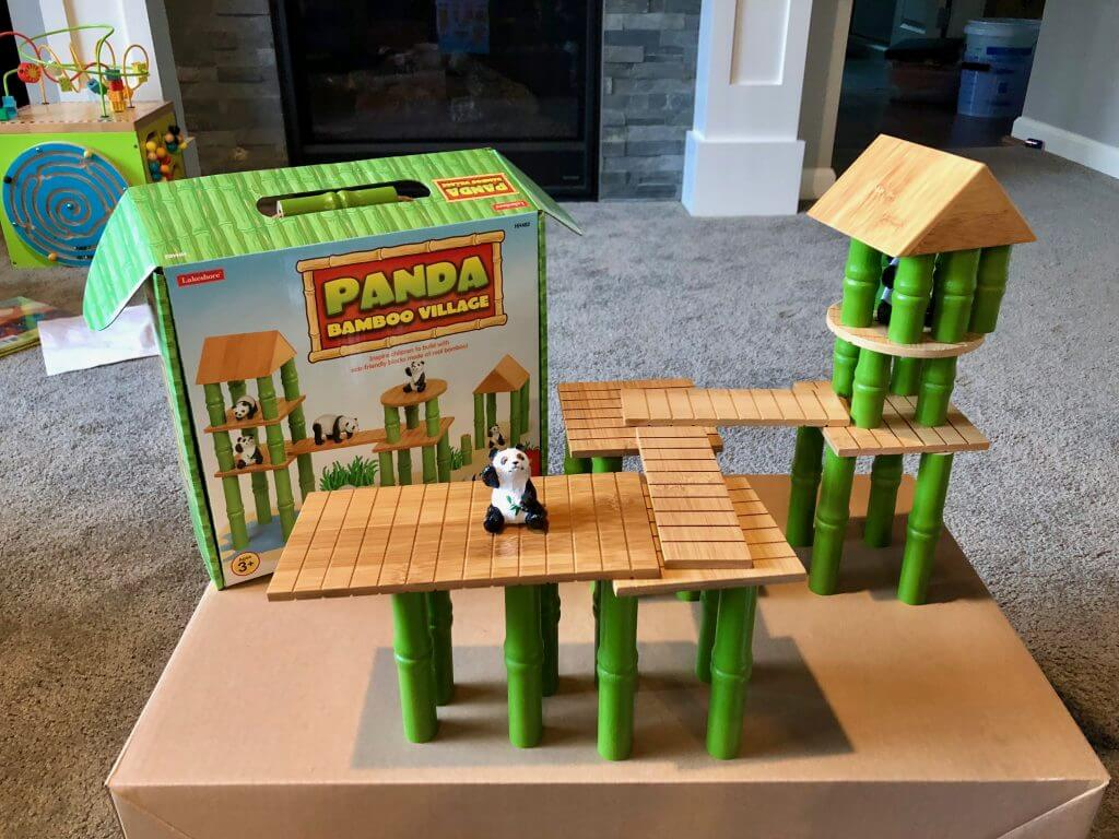 Panda Village eco-friendly bamboo blocks from Lakeshore