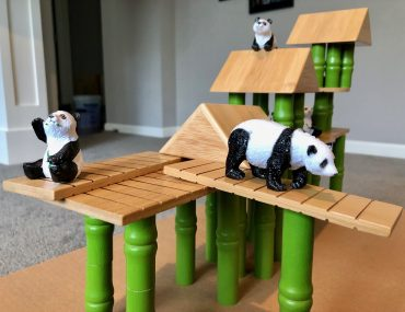 Lakeshore Panda Bamboo Village Playset for Preschoolers