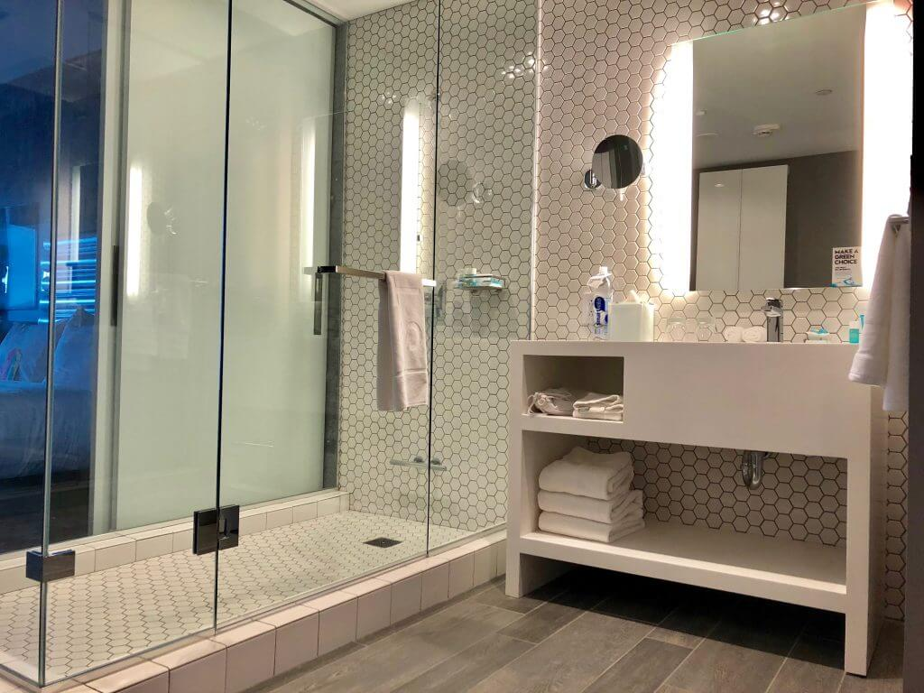 Bathroom at the W Bellevue at the new Lincoln Square