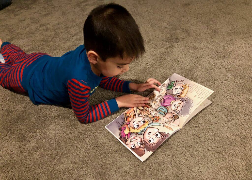 My son appreciated reading the book that accompanies the Turkey on the Table.