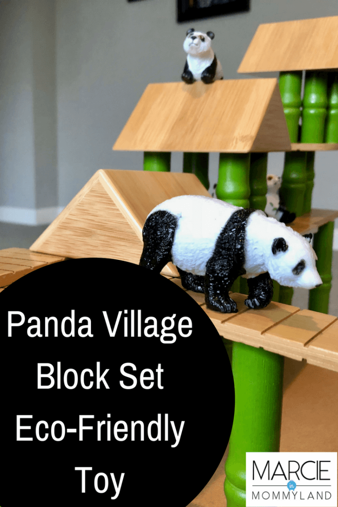 Panda Village Bamboo Block Set by Lakeshore