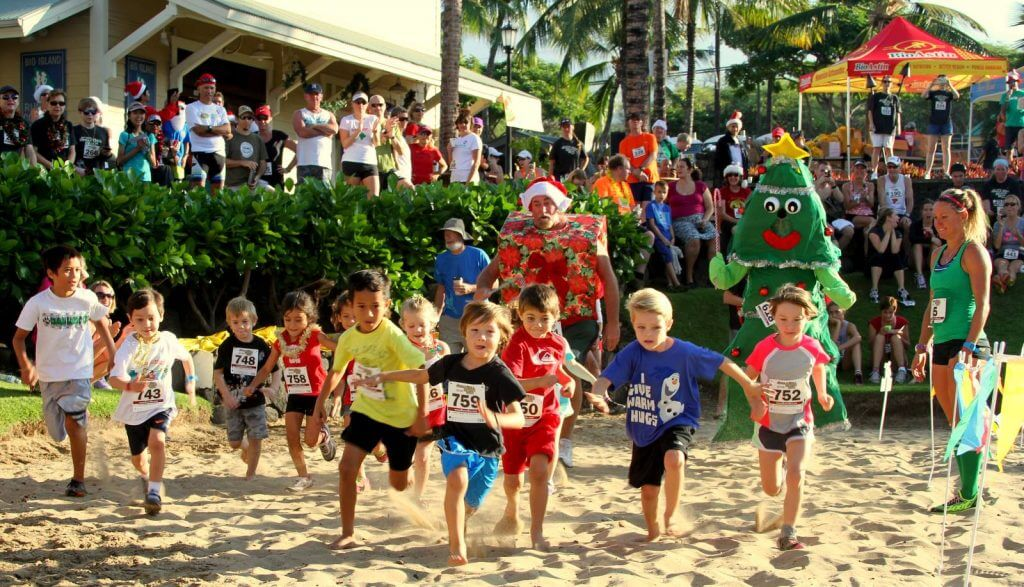 The Big Island's Jingle Bell Beach Run is fun for the whole family