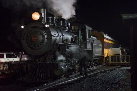 The Polar Express at Mt. Rainier Railway and Logging Museum in Elbe, WA