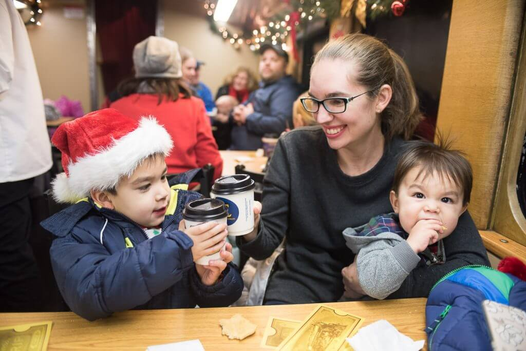 We loved the Hot Hot Hot Chocolate on The Polar Express near Mt. Rainier, WA