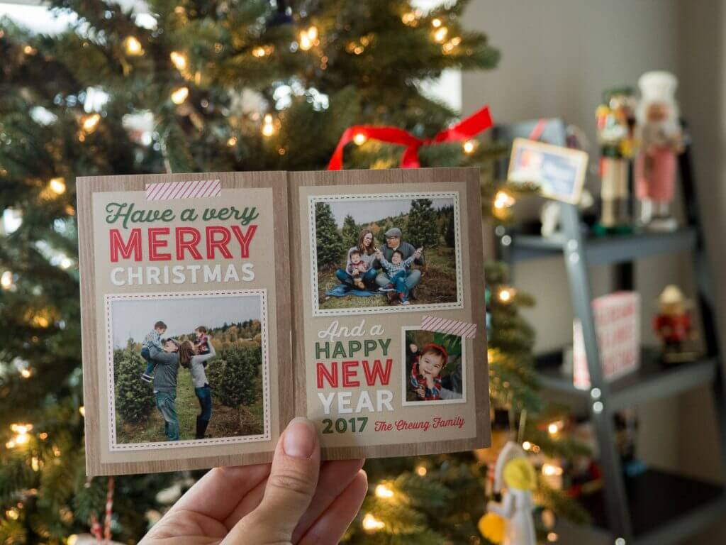 Shutterfly gatefold Christmas cards