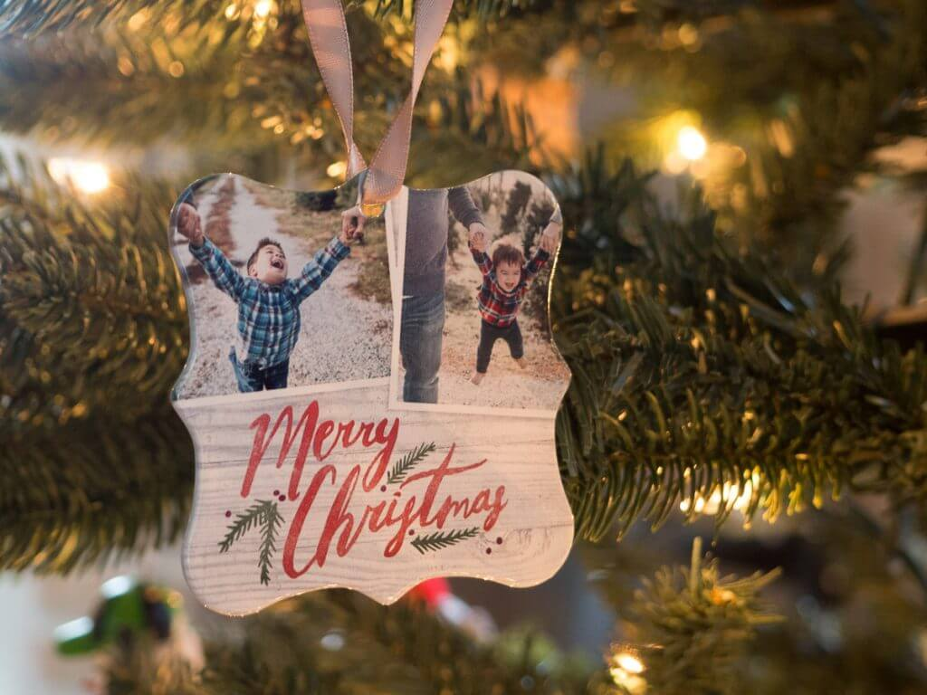 Shutterfly photo ornaments are completely personalizable.
