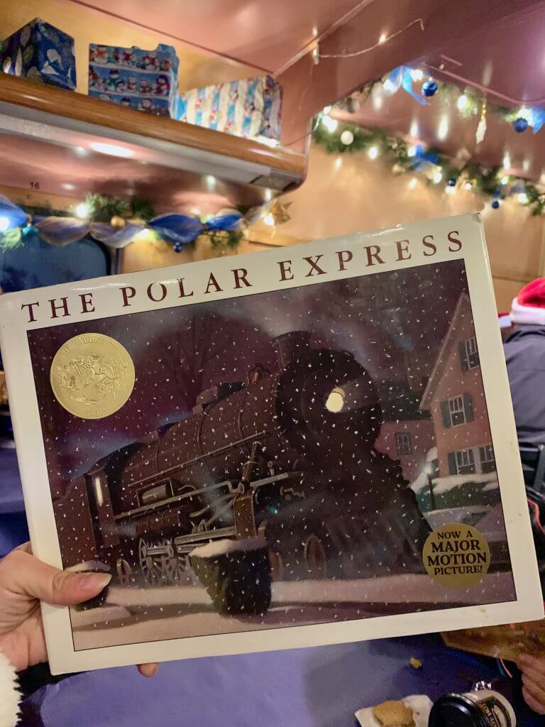 All Aboard the Polar Express™ Train Ride at Mt Rainier Railroad and Logging Museum review featured by top Seattle blogger, Marcie in Mommyland: We brought our copy of The Polar Express to read on The Polar Express Train Ride near Mount Rainier, WA