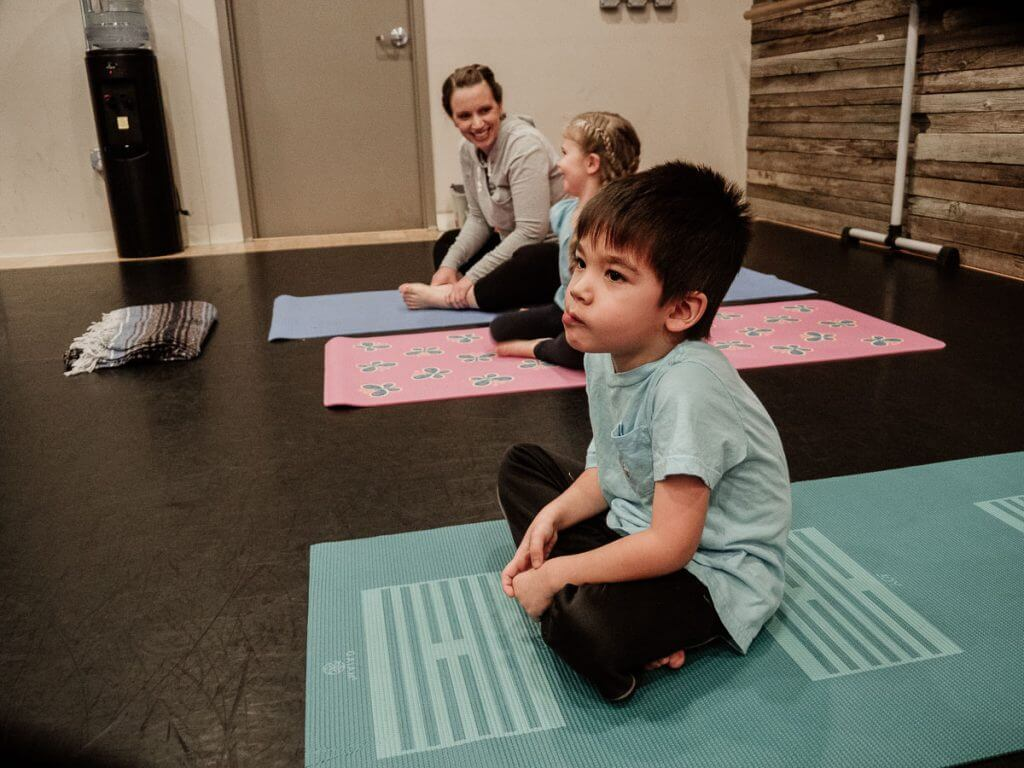 Little Fliers yoga class for kids in Issaquah teaches breathing techniques to keep kids calm and balanced.