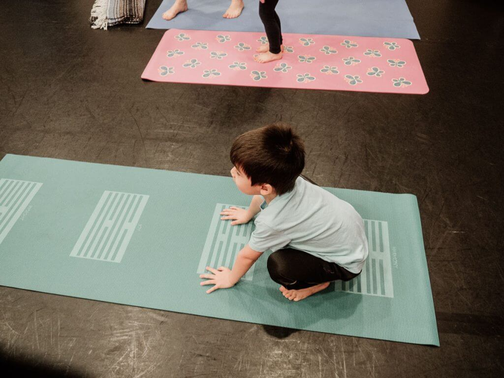 My preschooler practiced his poses at The Studio in Issaquah, WA