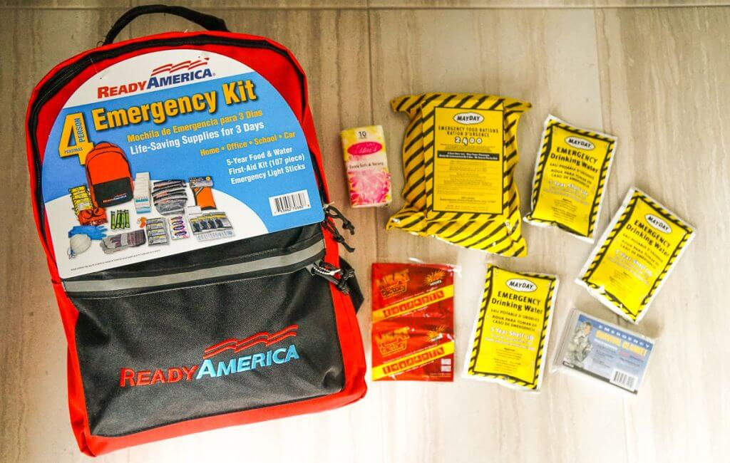 It's easy to start your emergency kit by getting this disaster kit from Ready America online.