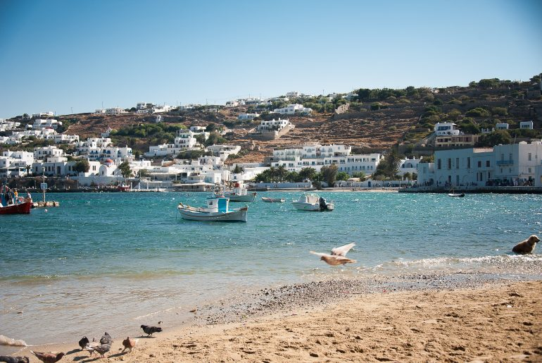The island of Mykonos is a gorgeous place for a family vacation