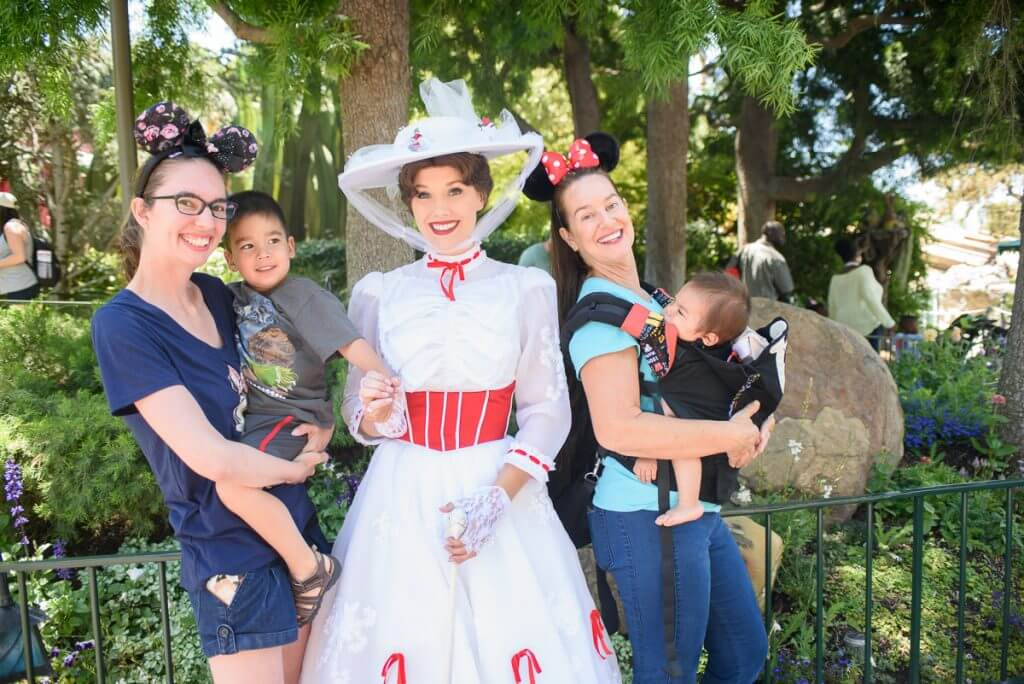 Mary Poppins character photo op at Disneyland Resort
