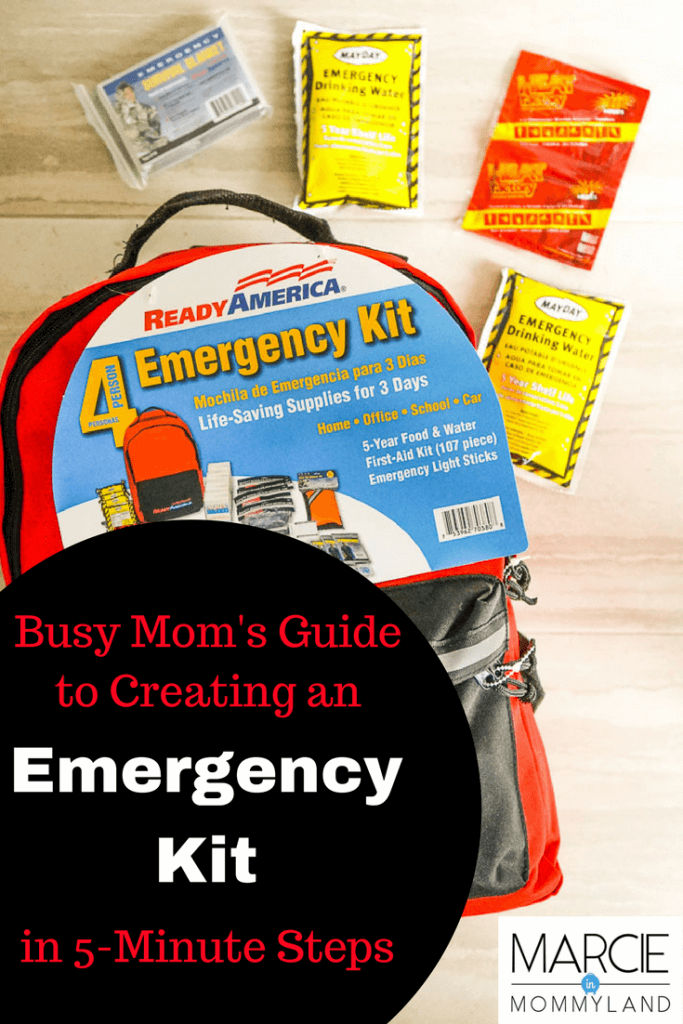 Busy Mom's guide to creating an emegency kit in 5-minute steps