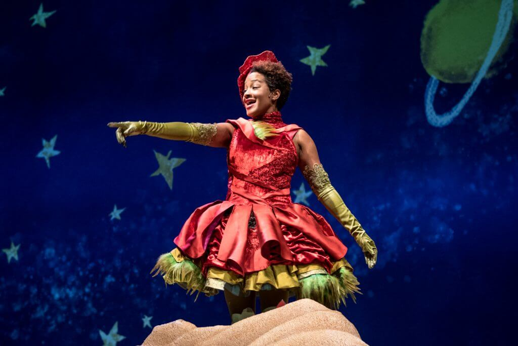 The Little Prince is a play at Seattle Children's Theatre and features Dedra D Woods as the Rose.