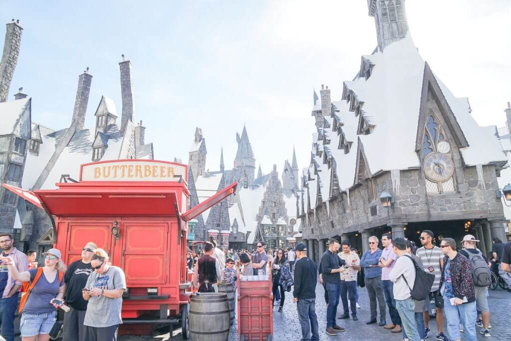 Hogsmeade at the Wizarding World of Harry Potter at Universal Studios in California
