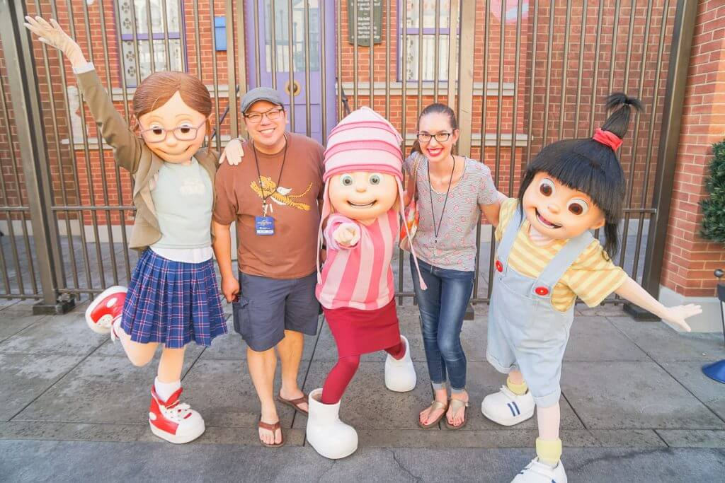 These kids from Despicable Me were a hoot to take photos with at this character meet and greet at Universal Studios Hollywood