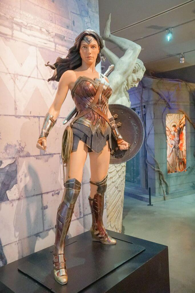 Wonder Woman costume at Warner Bros. Studio Tour in LA