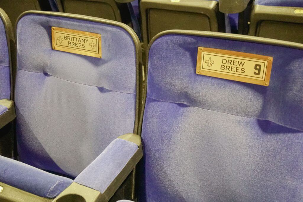 Drew Brees' seats on the Ellen DeGeneres Show on the Warner Bros. Studio Tour