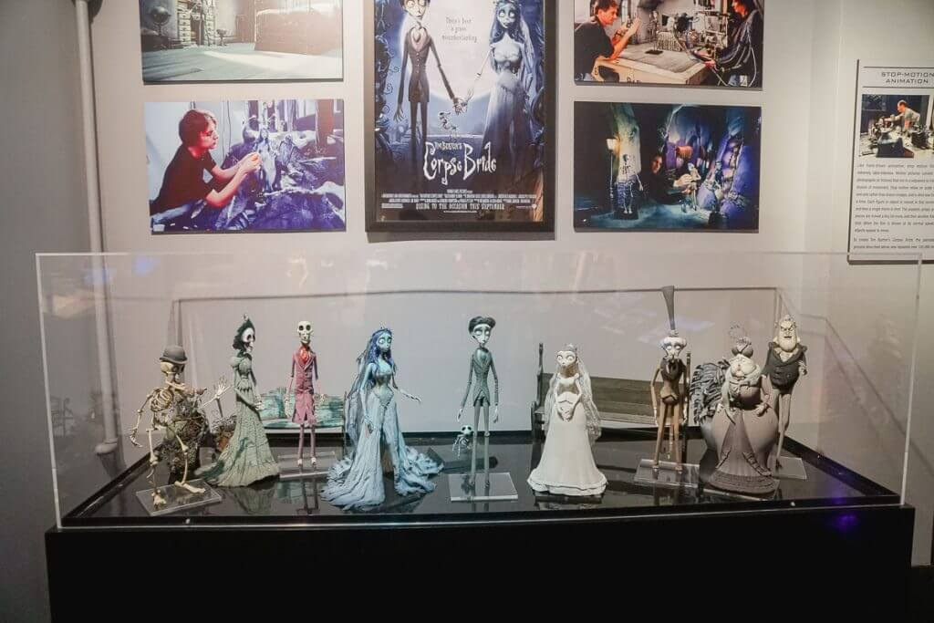 Corpse Bride figurines on the WB Studio Tour in Hollywood