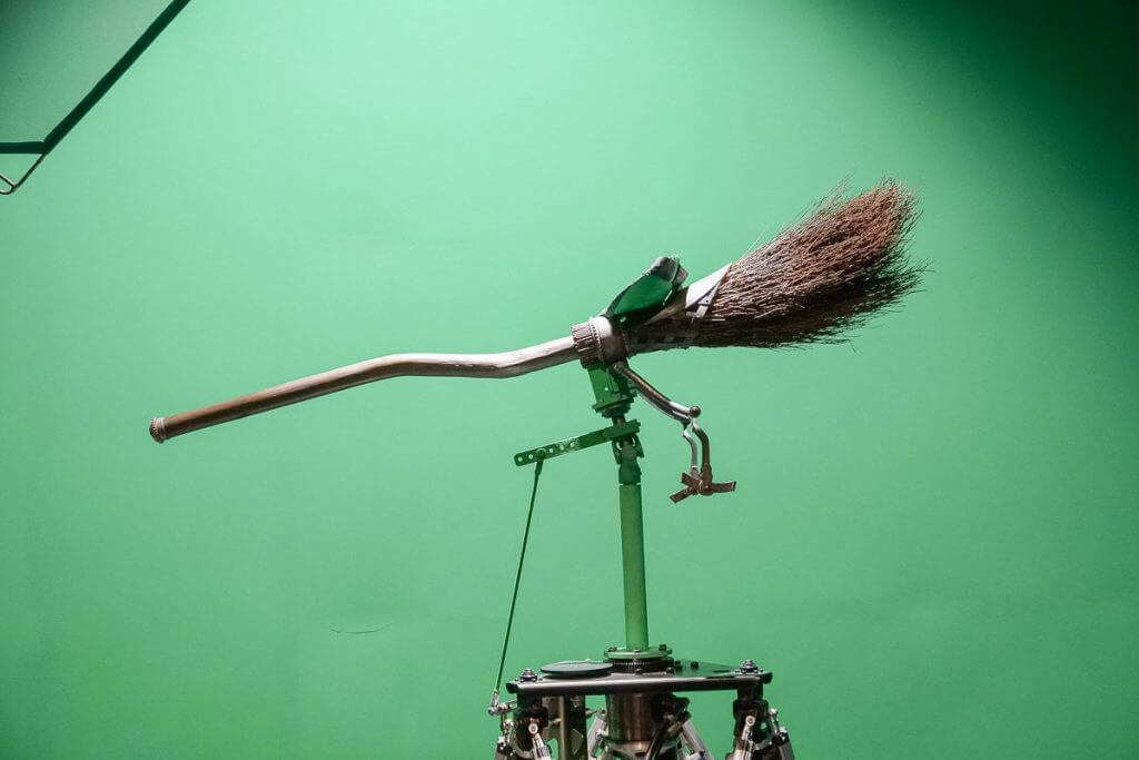 Harry Potter green screen at Stage 48 at the Warner Bros. Studio Tour in Los Angeles