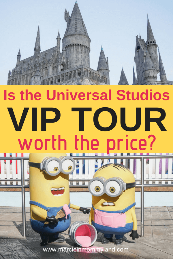 Wondering if the Universal Studios Hollywood VIP Tour is worth the price? Get a sneak peak inside the VIP Experience at Universal Studios Hollywood to see which rides you can cut to the front of the line, where you'll eat a private lunch, and if the VIP studio tour is that much better. Click to read more or pin to save for later. www.marcieinmommyland.com #universalstudios #universalstudioshollywood #hollywood #harrypotter #wizardingworldofharrypotter #losangeles #california #vip