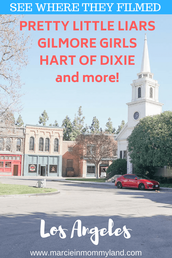 Are you a fan of Gilmore Girls, Pretty Little Liars, and Hart of Dixie? See where they filmed these shows and more on the Warner Bros Studio Tour in Los Angeles, CA. Click to read more or pin to save for later. www.marcieinmommyland.com #warnerbros #wb #wbstudiotour #warnerbrosstudiotour #gilmoregirls #prettylittleliars #hartofdixie