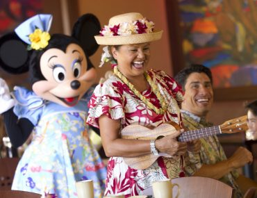 Aulani Character Breakfast includes entertainment, characters and and the opportunity to take photos with Mickey Mouse.