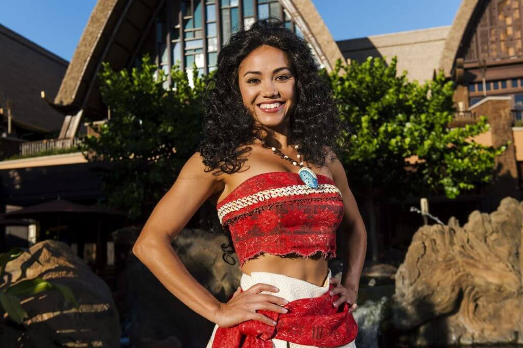 Moana character meet and greet at Disney Aulani