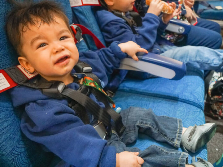 The CARES Safety Harness is the only FAA-approved child restraint for flying with babies and toddlers.
