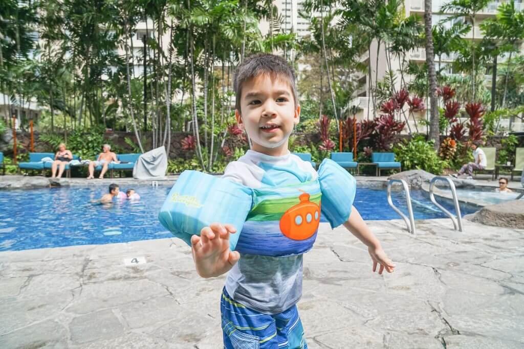 The pool at Courtyard Waikiki Beach is sure to be a hit at this Waikiki family accommodation.
