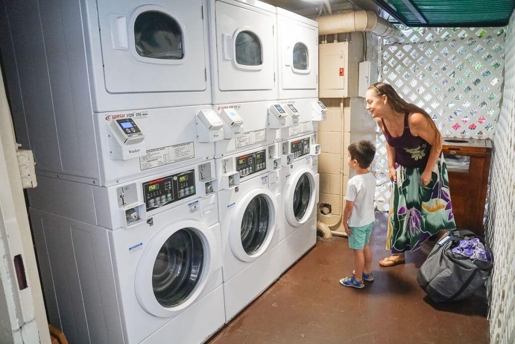 Laundry service at the Courtyard by Marriott Waikiki Beach on Oahu is perfect for Hawaii with kids
