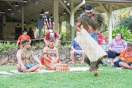 Samoan Kava Ceremony at Toa Luau at Waimea Valley, Oahu, Hawaii