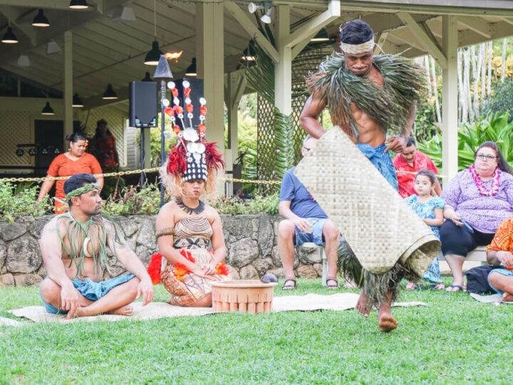 Samoan Kava Ceremony at Toa Luau at Waimea Valley, Oahu, Hawaii