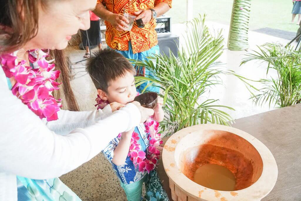 Trying Kava at Toa Luau was a fun thing to do on Oahu.