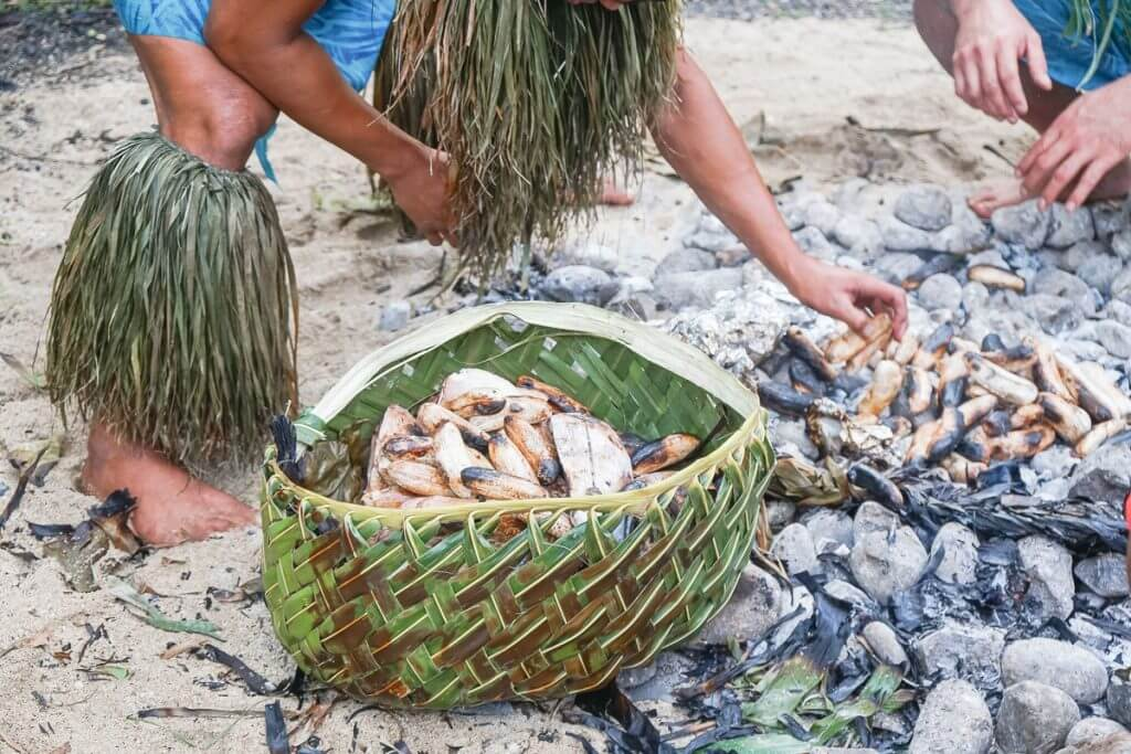 Samoan food from the Umu at Toa Luau on Oahu