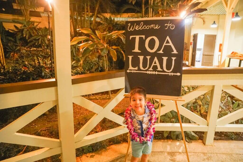 Toa Luau is a kid-friendly luau at Waimea Valley on the North Shore of Oahu and it's Hawaii's newest authentic luau perfect for familie with babies, toddlers, preschoolers and kids of all ages. It's a must do in Oahu.