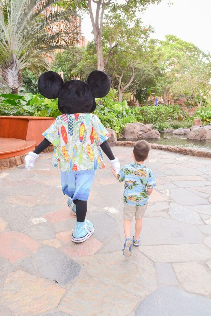 Disney Aulani Character Breakfast photo with Mickey Mouse on Oahu