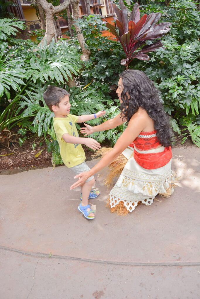 Moana is available for character meet and greets at Disney's Aulani Resort & Spa in Koolina, Oahu, Hawaii