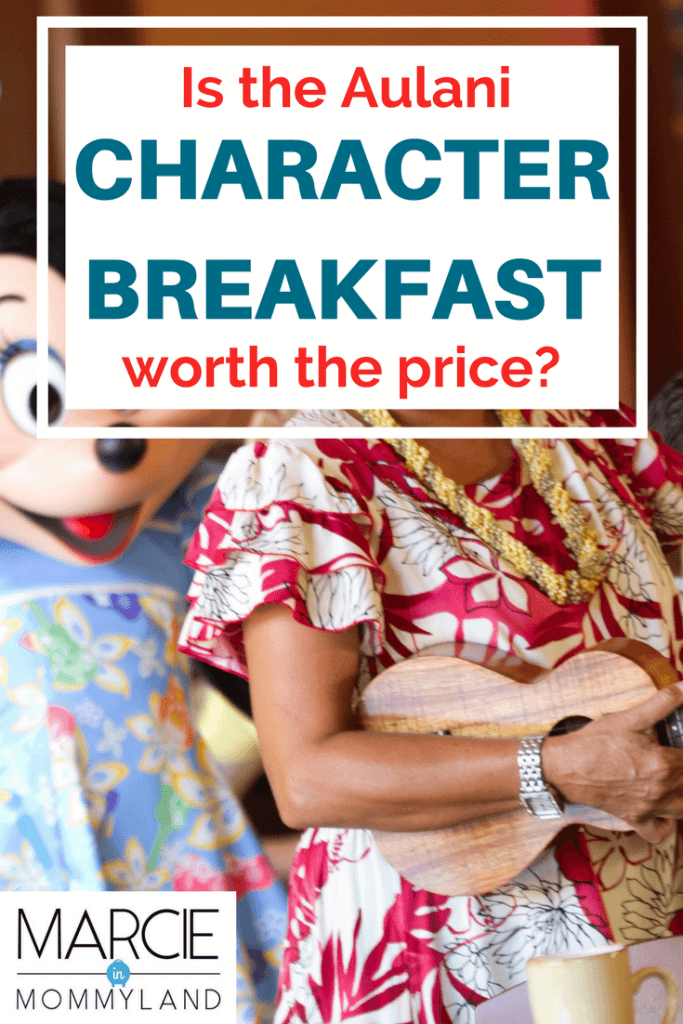 | Aulani Character Breakfast on Oahu review featured by top Seattle family travel blog, Marcie in Mommyland