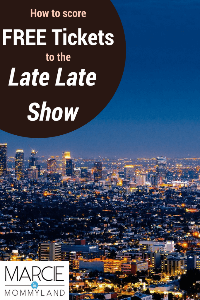Get free Late Late Show Tickets for a free activity in Los Angeles, CA