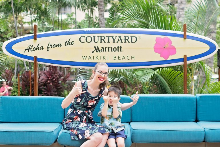 Courtyard Marriott Waikiki Beach Hotel is a great Waikiki hotel for kids with easy walking to Waikiki restaurants and Waikiki shopping.