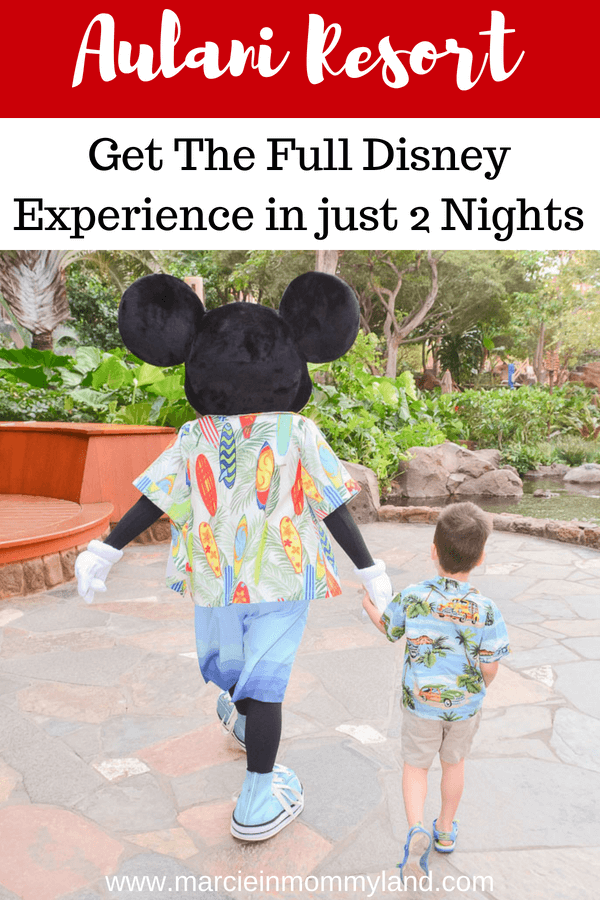 Want to know how to get the full Disney experience in just 2 nights at Disney's Aulani Resort on Oahu? Get my Aulani tip and the inside scoop of character meet & greets, character dining, kids club activities and more! Click to read more or pin to save for later. www.marcieinmommyland.com #aulani #aulaniresort #disneyaulani #disneyvacation #aulaniresortandspa #oahu #oahuhawaii #hawaii #hawaiiwithkids