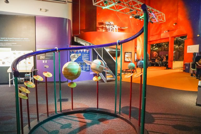 Photo of the Pacific Science Center at Seattle Center in Seattle, Washington, which is a fun thing to do in Seattle with kids #pacificsciencecenter #seattlewa #seattle #seattlecenter #pnw