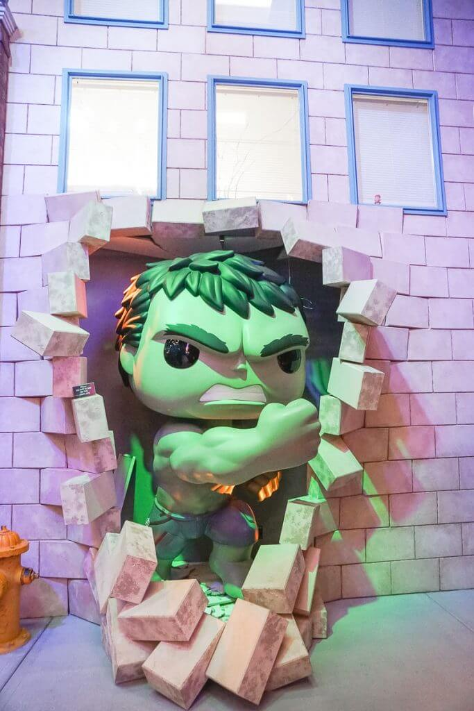 Photo of the Hulk crashing through a wall at the Funko HQ in Everett, WA #funko #funkohq #hulk #marvel #everett #seattle