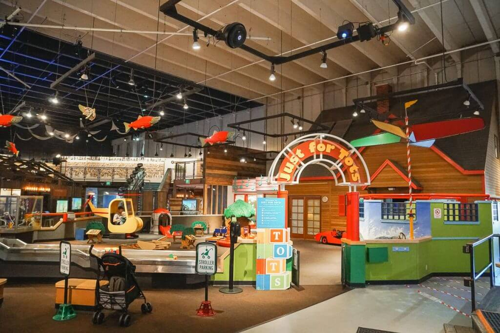 Photo of the Just for Tots play area at Pacific Science Center at Seattle Center #seattlecenter #pacsci #pacificsciencecenter #seattle #seattlewa #familytravel