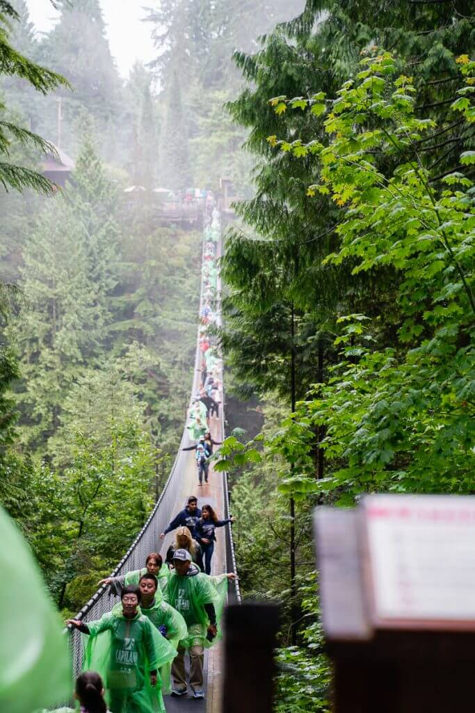 Crossing Capilano Suspension Bridge is a popular thing to do in Vancouver, BC